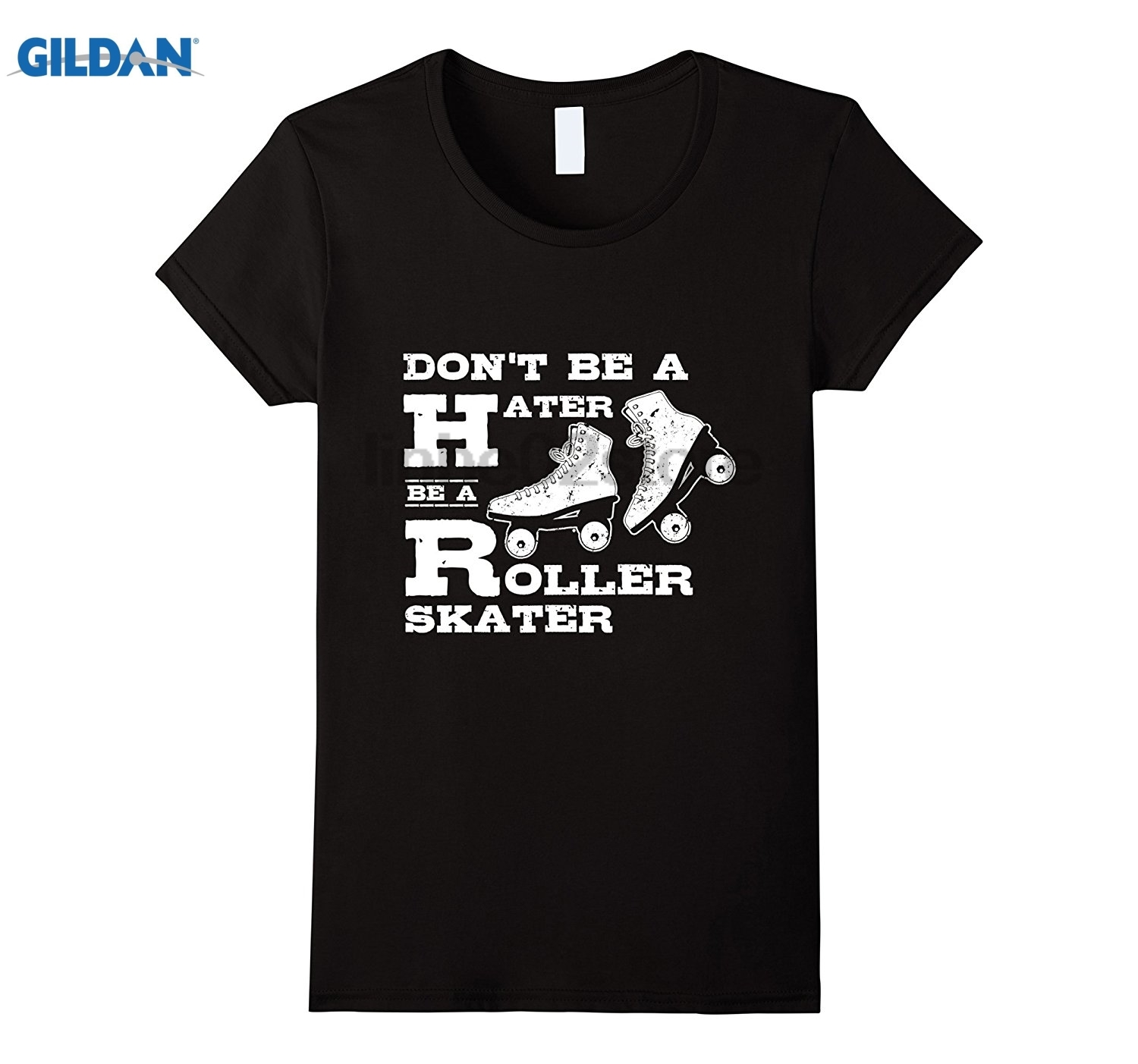 GILDAN Womens Dont Be A Hater Be A Roller Skater Roller Derby T-Shirt summer dress T-shi ...