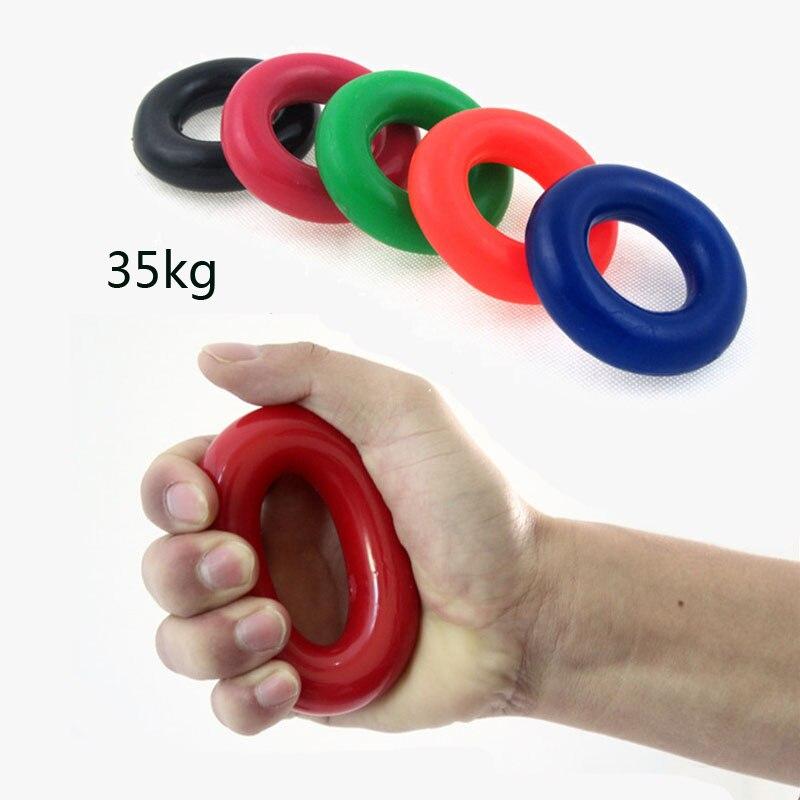 Hot Unisex 35KG Síla Prstová ruka Grip Značka Svalová síla Trénink Gumový prsten Exerciser Ruční chapadla Síla zápěstí