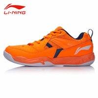 Li Ning Men Anti Slip Badminton Training Shoes Contrast Color Stylish Sneakers Li Ning Breathable Support