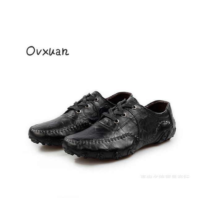 Ovxuan 2018 Men Shoe Luxury Brand Genuine Leather Casual Dress Driving  Oxfords Shoes Men Loafers Moccasins Italian Shoes for Men 176829bc0290