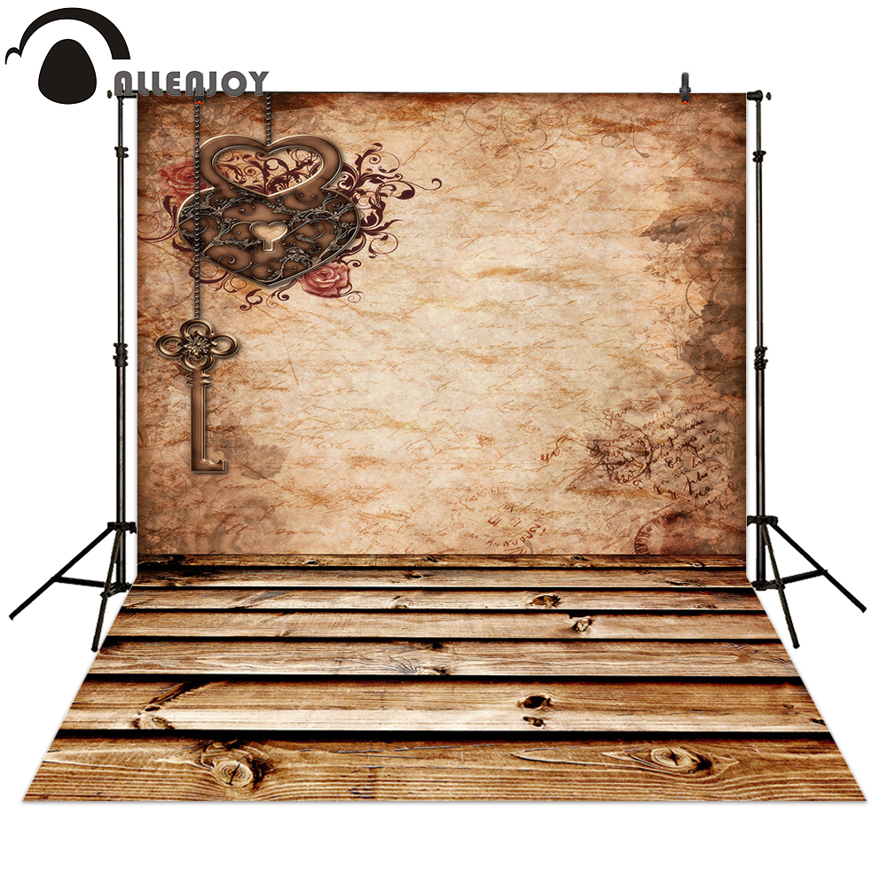 Allenjoy Photography backdrops Valentine's Day retro style love background any size polyester material available