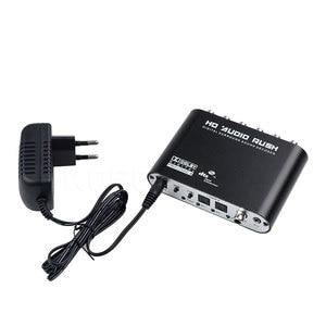 Image 5 - Caldecott chaud 5.1 vitesse Audio DTS AC 3 6CH convertisseur Audio numérique LPCM à 5.1 sortie analogique 2.1 décodeur Audio numérique pour DVD PC
