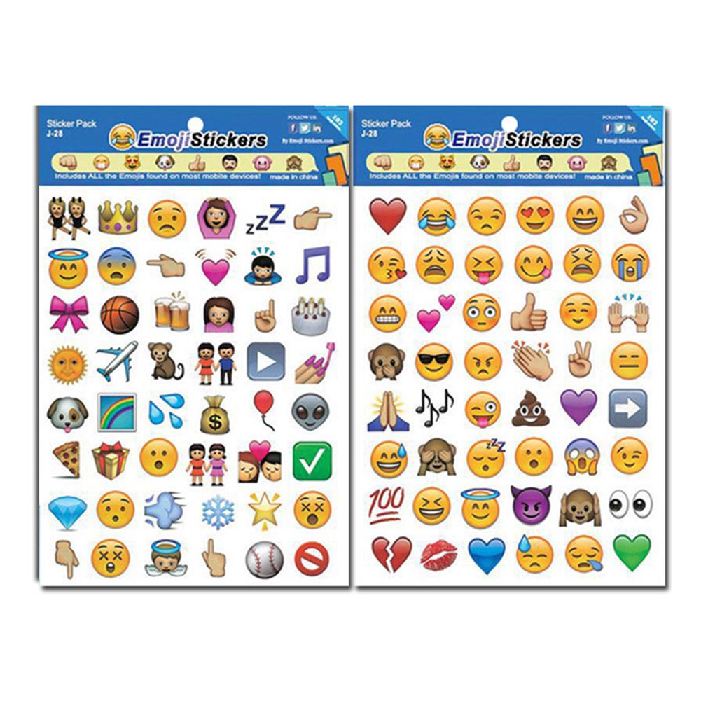 4 Pieces/set Creative Expression Containing Emoji Stickers Affixed To Face Expression Of Stickers Diary Smiling Face