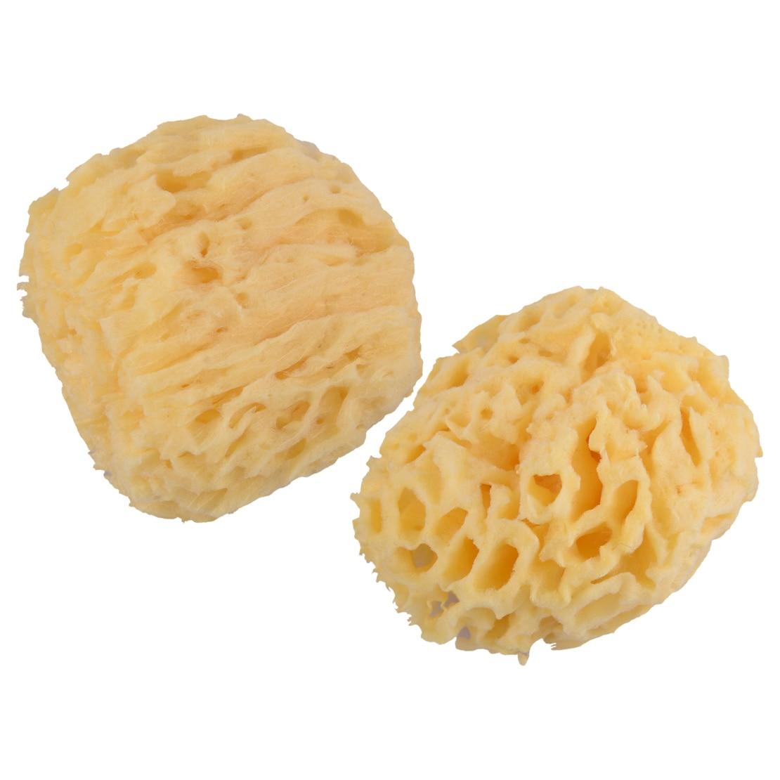 "New Yellow 3.5""-4""/4""-4.5"" Soft Natural Sea Sponge Bath Body Shower Washing Spa Loofah"