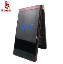 Dual Screen Flip Cell Phone Clamshell M2 Quad GSM Old Man Mobile phone Senior elder 3