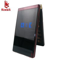 Dual Screen Flip Cell Phone Clamshell M2 Quad GSM Old Man Mobile phone Senior elder 3.0 screen big button Box Speaker