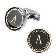New Arrival Fashion Letter A D R H M Cufflinks The English Alphabet Cuff Links Men Shirt Charm Cufflinks