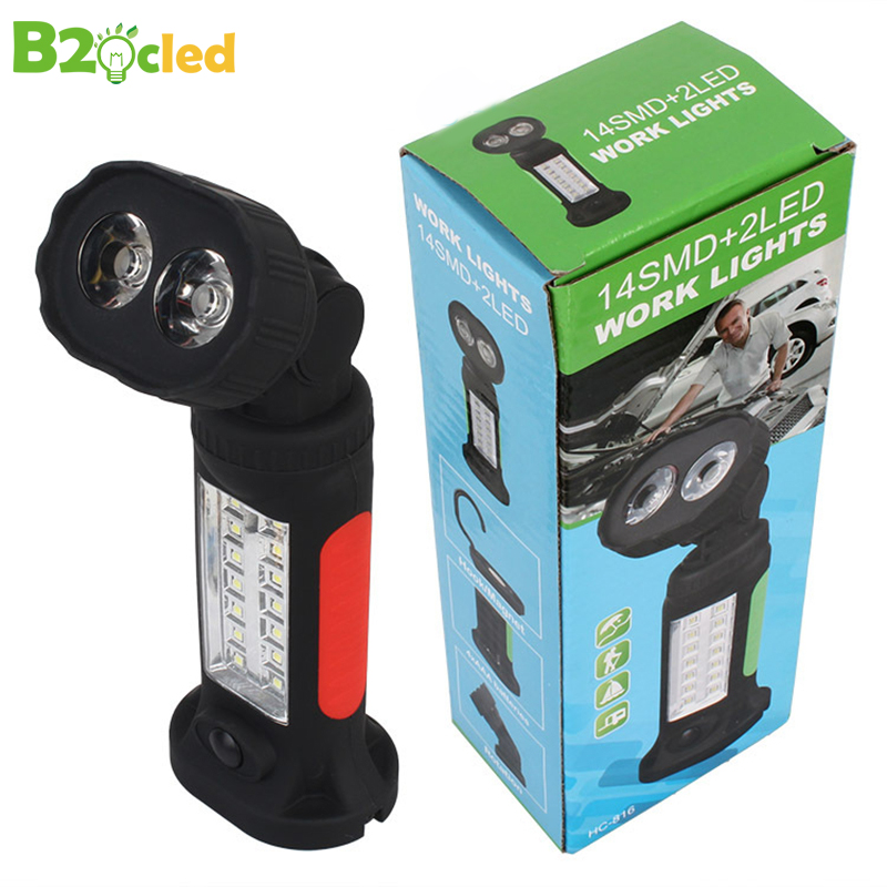2017 Rotary multifunctional working flashlight with Magnet adsorption hook use 4 x AAA Battery work light Outdoor emergency lamp 2017 rotary multifunctional working flashlight with magnet adsorption hook use 4 x aaa battery work light outdoor emergency lamp