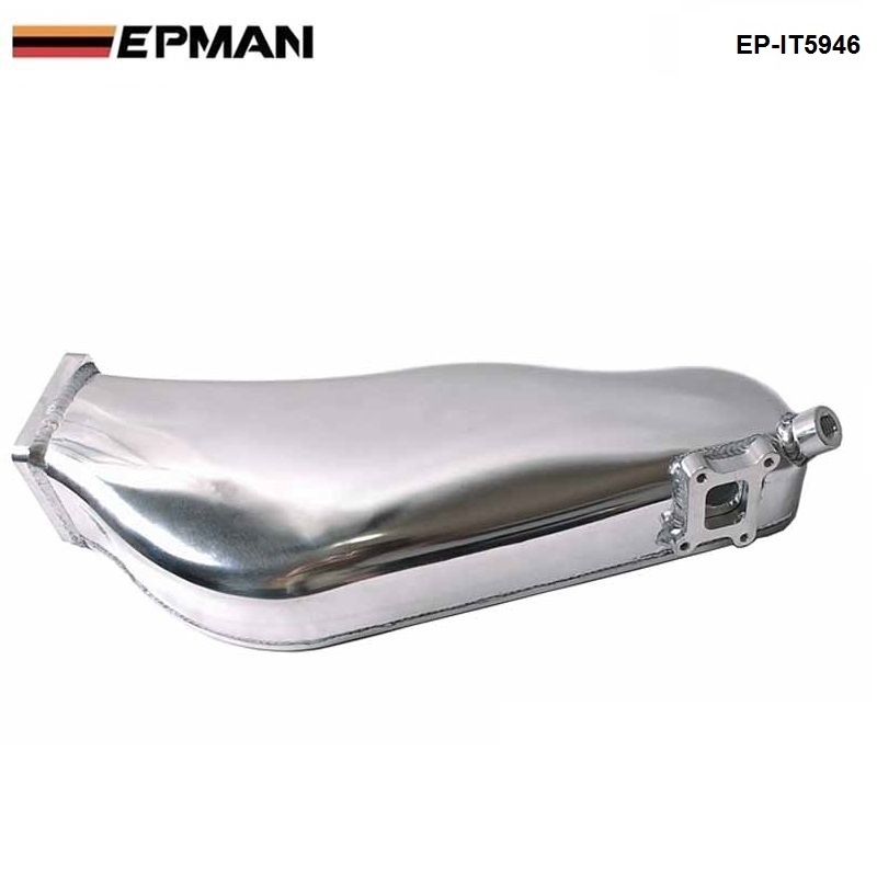 EPMAN - For NISSAN RB20 Cast Aluminum Turbo Intake Manifold Polished JDM high Performance EP-IT5946 wlr store cast aluminium intake manifold for 93 98 supra 2jzgte for toyota 2jz intake manifold high quality new brand