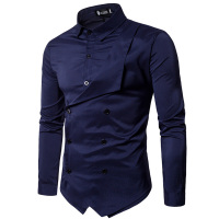 Men Shirt 2018 Spring New Brand Men S Slim Fit Dress Shirt Male Long Sleeves Fake
