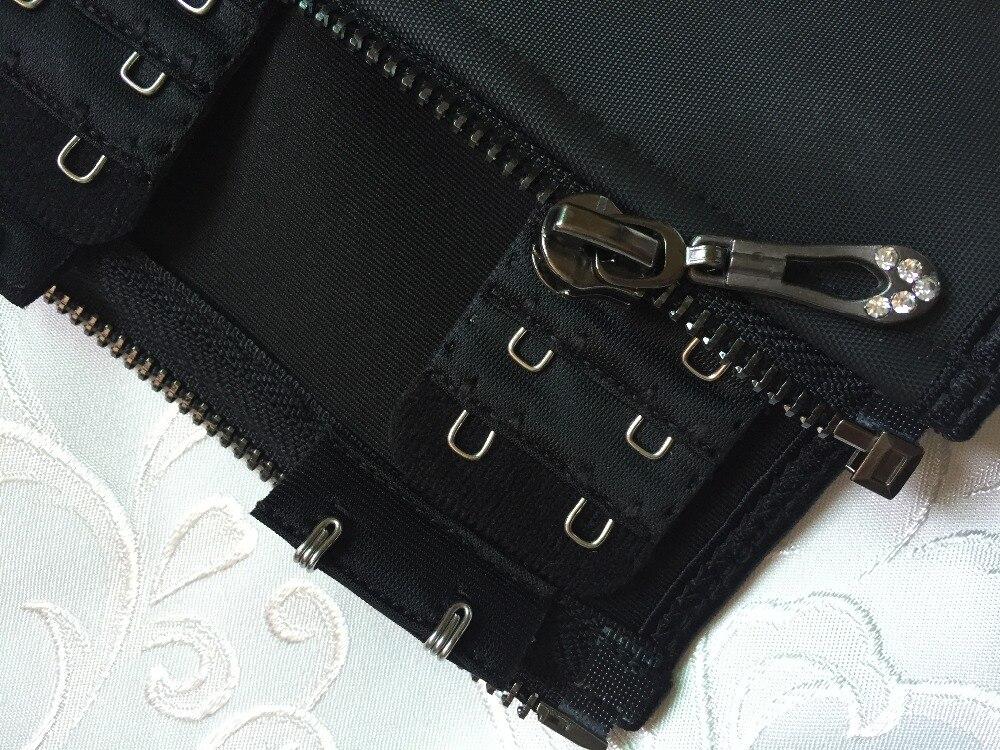 Meisou New Latex Waist Trainer Body Shaper Women Corset with Zipper Hot Shaper Cincher Corset Top Slimming Belt Black Plus Size (18)
