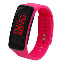 Fashion spor saat Horloge Sports Waterproof Digital Wrist Watch Silicone Band LED Electronics Fitness Smart Watch Men Women(China)