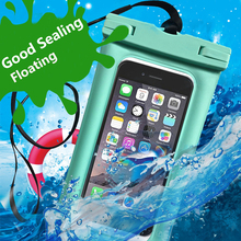 Floating Waterproof Bag Pouch Universal 6.5 inch Mobile Phone Bag Swimming Case Take photo Under water for iphone Samsung Huawei