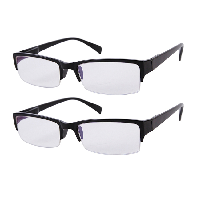 2x Half Rim Reading Glasses Mens Womens Everyday Use Office Home ...
