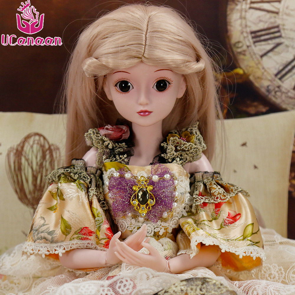 UCanaan 1/3 BJD Dolls With All Outfit SD Doll Model Reborn Girls Boys High Quality Toys Makeup Shop Resin Dressup DIY Kids Toy