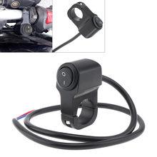 Выключатель для мотоциклетной фары 7/8 дюйма 22 мм черный 12