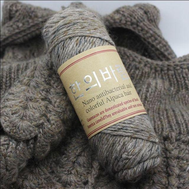 100 g/lot 140 mètres de haute qualité laine d'alpaga fils épais à tricoter naturel vison cachemire fil laine mérinos Crochet tricot à la main
