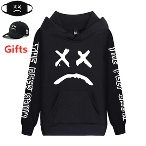 Image 1 - Cap&Mask as gifts Lil Peep hoodies men women boy girl sweatshirts hip hop Rapper Bboy DJ dancer DJ hooded jacket tracksuits coat
