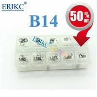 ERIKC B14 Nozzle adjusting washer kit and common rail Injector Repair Shim size:1.20mm 1.58mm For injectors 100 pcs