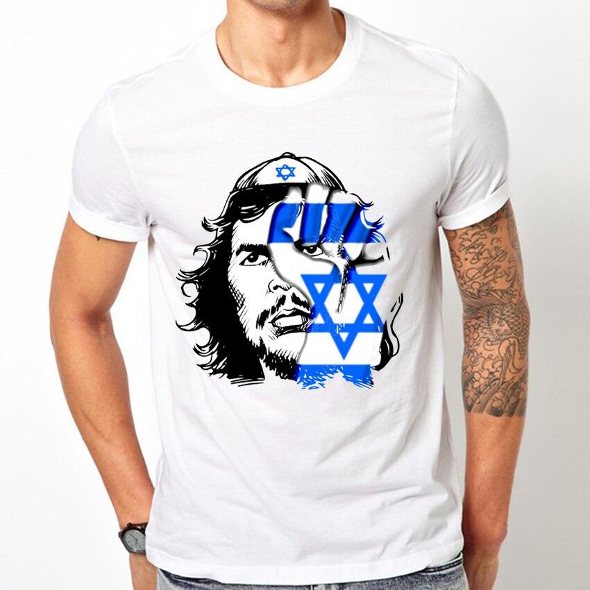 6d883c8576 2018 novo verão moda outono Dos Homens de manga curta Bandeira do T Shirt O  estado de Israel neck Tops casual Judeu Guevara T em Camisetas de Roupas ...