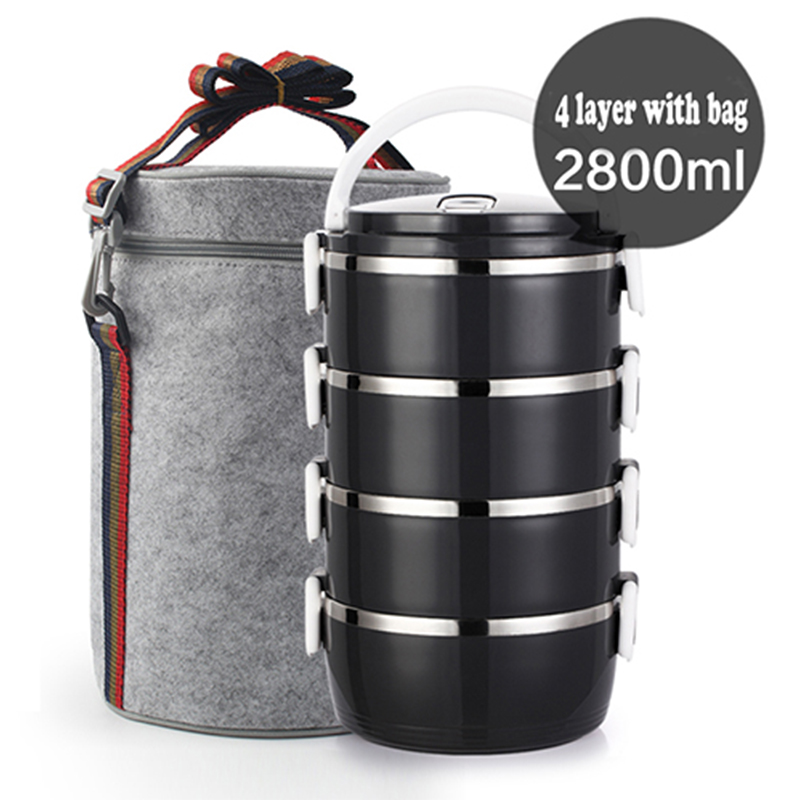 Thickened Stainless Steel Heat Preservation Lunch Box 1 Pieces Adult Business Bento Box For Kids Portable Picnic School