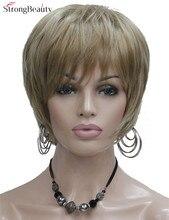 Строгая Красота Синтетический Короткий Прямой 3 Цвета Парики Жаропрочных Волос Для Женщин