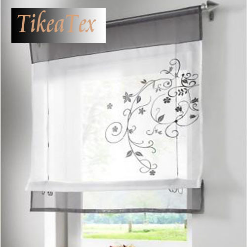 1pc Hot S Embroider Voile Curtains Short For Kitchen Window Cortinas Roman Blinds Roller In From Home Garden On