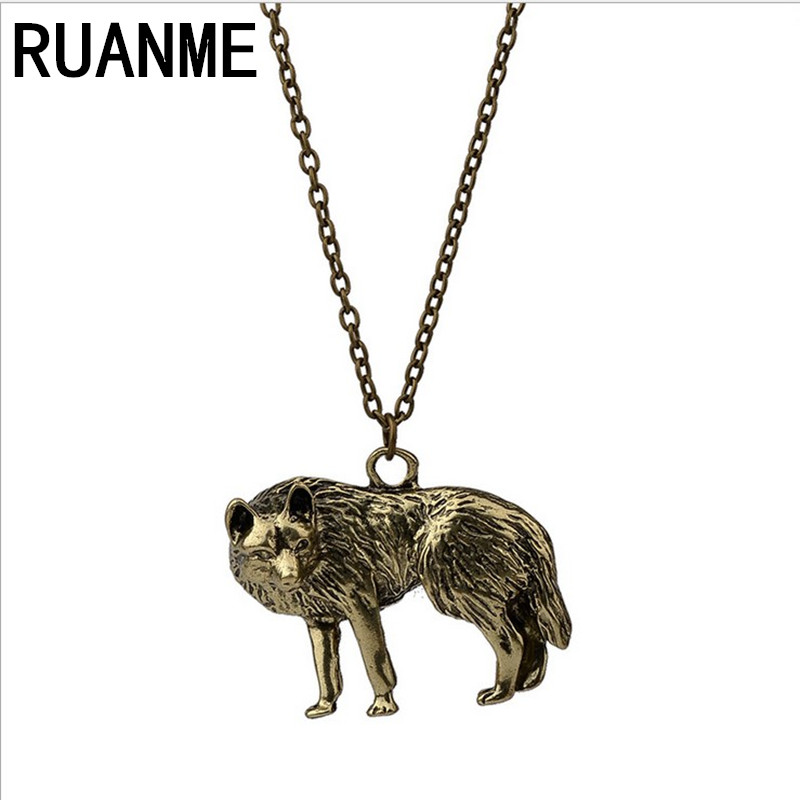 Retro fashion jewellery personality Wolf long necklace Creative joker female accessories wholesale font b sweater b