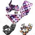 Nuevo Diseño Paisley Corbata Set 100% Seda Jacquard A Cuadros Para Hombre Bowtie Gravata corbata Hanky Gemelos Set Lazo Para Hombre para La Boda partido