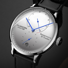 GUANQIN ساعة ميكانيكية رجال الأعمال موضة ساعات أوتوماتيكية 316L الفولاذ المقاوم للصدأ العلامة التجارية الفاخرة ساعة اليد مضيئة