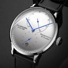 GUANQIN mekanik İzle erkekler İş moda otomatik saatler 316L paslanmaz çelik üst marka lüks aydınlık kol saati