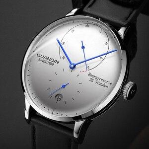 Image 1 - GUANQIN mekanik İzle erkekler İş moda otomatik saatler 316L paslanmaz çelik üst marka lüks aydınlık kol saati