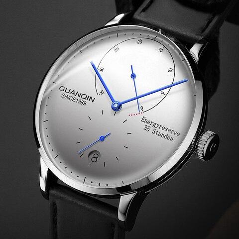 Topo da Marca de Luxo Relógio de Pulso Guanqin Relógio Mecânico Masculino Negócios Moda Relógios Automáticos 316l Aço Inoxidável Luminoso