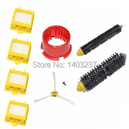 Vacuum Cleaner Accessory Kit Hepa Filters Bristle Brush Flexible Beater Brush for iRobot Roomba 700 Series 760 770 780 790 flexible beater brush bristle brush for irobot roomba 500 600 700 series 550 630 650 660 760 770 780 790 vacuum cleaner parts