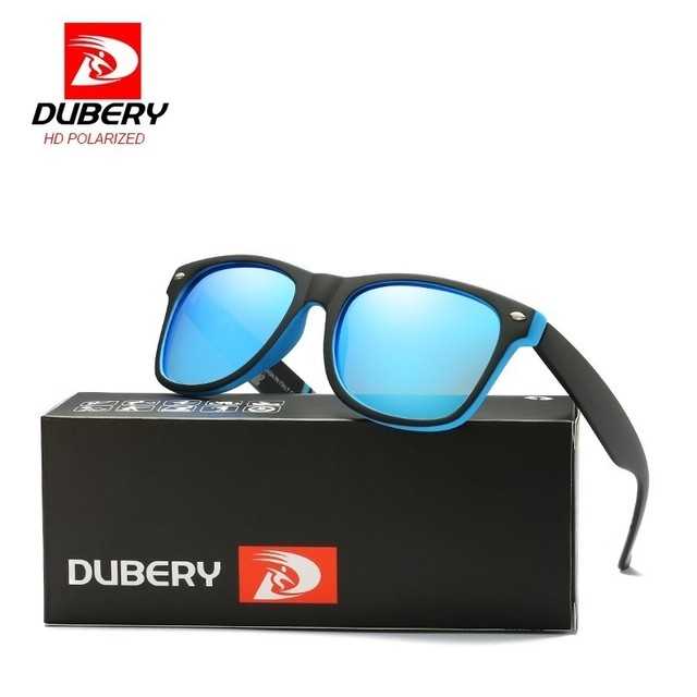 a387e6fe56 DUBERY Polarized Sunglasses Men Women Driving Square Sun Glasses For Men  Summer Retro Mirror Sport Luxury