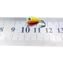 6 Pcs Winter Ice Fishing Lure 1.8cm 2.3g Mini Metal Lead Head Hook Bait Jigging Fishing Tackle
