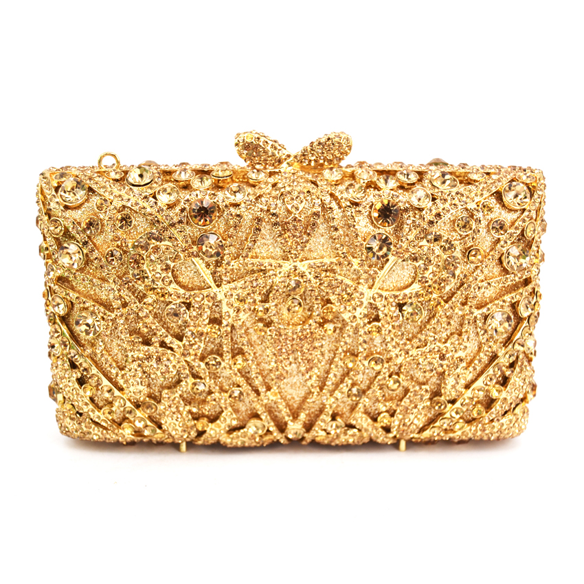 Luxury Evening Bag Ladies Party Clutch Bag Women Prom Purse Wedding Bride Bag Rectangle wallet gold/silver/green Crystal Bag