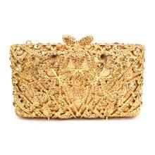 Luxus Abendtasche Damen Party Handtasche Frauen Prom Geldbörse Hochzeit Braut Tasche Rechteck brieftasche gold/silber/grün kristall Tasche