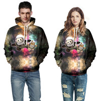 Plus Size S 5XL Print 3D Galaxy Meow Star People Space Of Panda And A Cat
