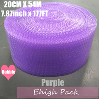 0.2*54m Purple Heart shape Air Bubble Roll Party Favors And Gifts Packing Foam Roll Wedding Decoration Emballage Bulle Warp