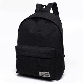 90d804fbec9a 2018 дешевый мочила черный рюкзак Холщовый женский рюкзак школьные ранцы  парный рюкзак повседневный 4 цвета прочный