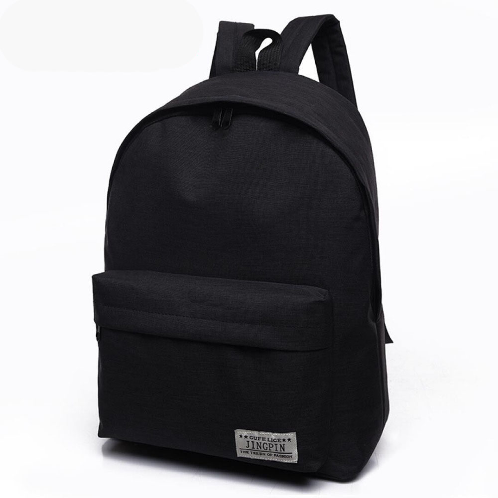 Cheap Mochila Black Backpack Canvas Women Backpack Schoolbags  For Teenagers Couple Backpacks Casual 4 Color Durable