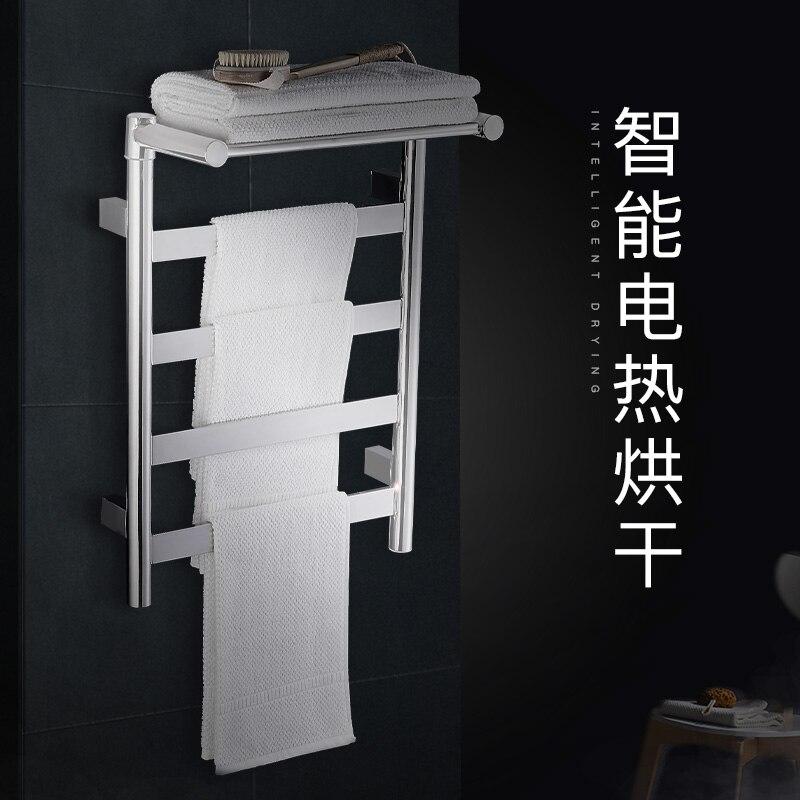 Porte serviettes électrique chauffage Intelligent séchage toilette en acier inoxydable 304 salle de bains matériel électroménager