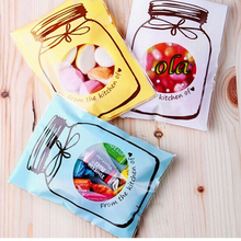 New Arrival 100pcs/lot 70x100mm Cute Cookie Package Self-adhesive Gift Bottle Plastic Bags Biscuit Snack Baking Package(China (Mainland))