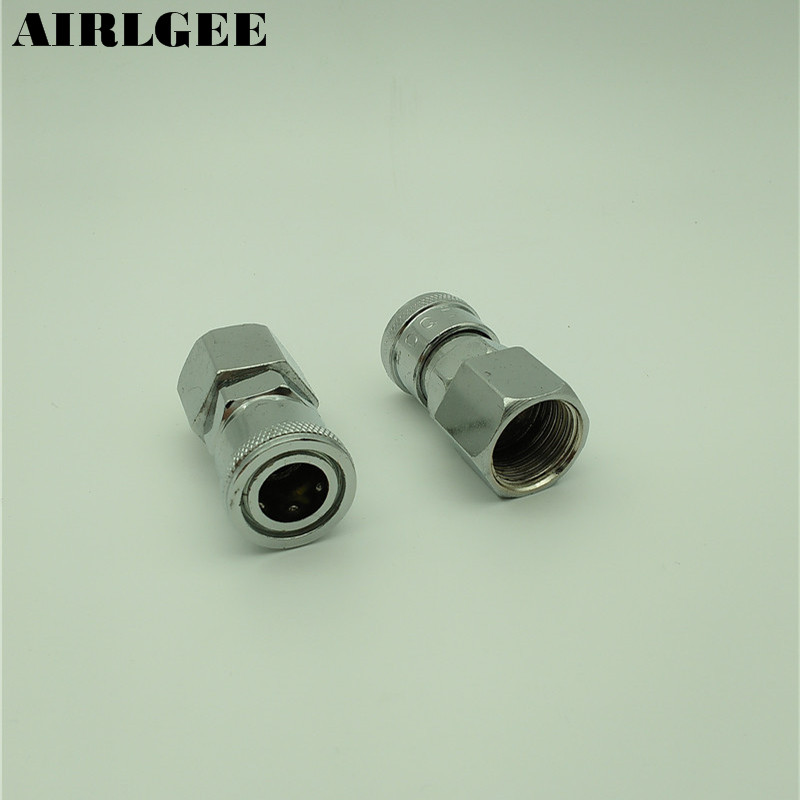 2 Pcs 1/2PT Female Thread Metal Air Quick Coupler Pneumatic Hose Connector tube size 14mm 1 4 pt thread pneumatic