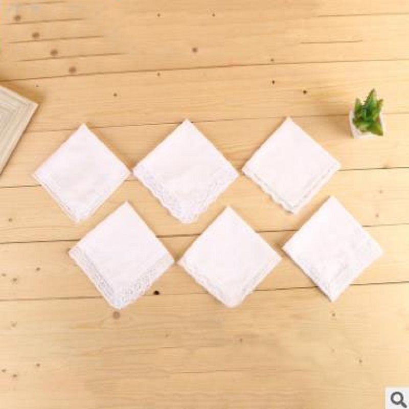The New Cotton Lace White Handkerchief