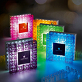 DIY Bulding Block USB Lamp Photo Frame Lamps Touch LED Night Light Novelty Product Lights Home Decoration Lamp AAA Battery Lampe