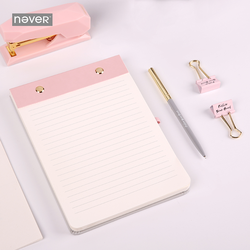 Stationery Light Pink Notepad With Ball Pen Set Thickening