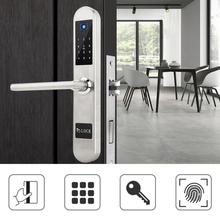 цены на Electronic Intelligent Lock Touch Screen Keypad Digital Password Smart Fingerprint Touchscreen Door Lock Card Smart Door Lock  в интернет-магазинах