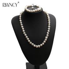 classic Pearl jewery sets natural freshwater Baroque pearl necklace bracelet earrings sets